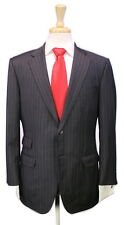 * PHINEAS COLE * Recent Charcoal Gray Chalkstripe 110's Wool 2-Btn Slim Suit 40S