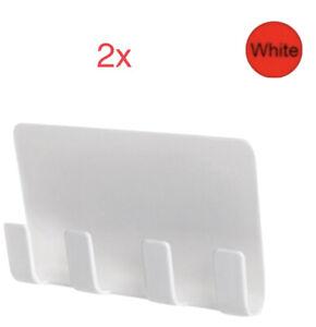 Lot Of 2 Pop Wall Holder Bracket Shelf Mount Support Universal, White