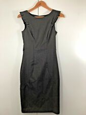 PORTMANS Size 6 Womens Grey Brown Striped Stripe Summer Work Business Dress