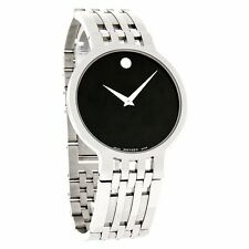 Movado Esperanza Mens Stainless Steel Black Dial Watch 0606042 Father's Day