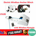 25lbs Electric Windlass Anchor Winch Saltwater Boat Marine With Wireless Remote