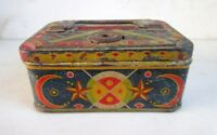 Vintage Old Rare Children Use Colorful Litho Printed Tin Money Coin Box Japan?