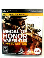 PS3 Game Medal Of Honor Warfighter Limited Edition Mint