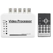 4-CH Channel DVR CCTV Quad Video Camera Processor System kit Splitter Switcher
