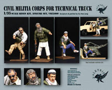1/35 Scale resin kit Civil Militia Corps for Technical Truck (3 Figures)