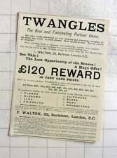 1897 Twangles Fascinating Parlour Game, F Walton 39 Barbican