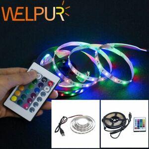 Led Strip Light Usb 2835smd Dc5v Flexible Lamp Tape Ribbon Rgb 5m Tv Desktop