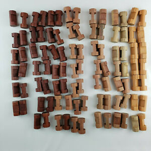 Lincoln Logs  Lot of 96 Small Single One Notch Logs Full Round 1.5 inches