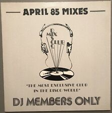 APRIL 85 MIXES DISCO MIX CLUB DMC DJ MEMBERS ONLY UK VINYL