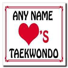 Amor Corazón Taekwondo Personalizada Coaster
