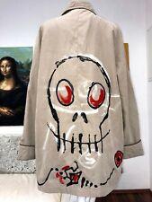 MANTEL Jacke XL COAT UNIKAT designer Totenkopf skull hexe magic esoterik gothik
