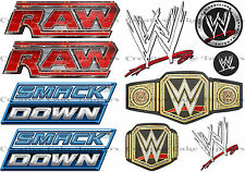 Wrestling Ring Smackdown Raw Logo WWE Edible Icing Sheet Birthday Cake Toppers