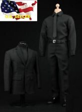1/6 scale Black Color business Suit Agent Man clothes for Hot toys ❶US seller❶