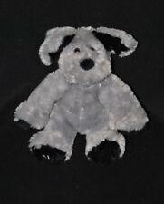 Peluche doudou chien Club Des Créateurs de Beauté agnès b. gris noir 20 cm TTBE