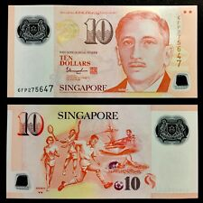 2020 SINGAPORE 10 DOLLARS POLYMER P-NEW UNC> > > >W/2 INVERTED TRIANGLE THARMAN