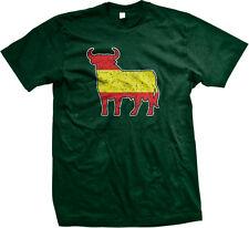 Spain Flag Distressed Colors Bull Running Bulls Red Yellow ESP ES Men's T-Shirt