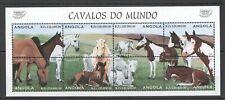 PK030 1997 ANGOLA FAUNA HORSES CAVALOS DOMESTIC ANIMALS 1KB MNH STAMPS
