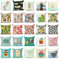 18'' Fruits cotton linen funny pillow case sofa waist cushion cover Home Decor