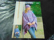 James C Brett Chunky Knitting Pattern JB555 Tabbard and Hat