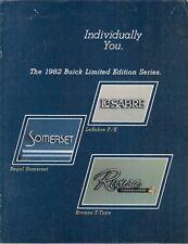 Buick LeSabre F/E Regal Somerset Riviera T-Type 1982 USA Market Sales Brochure