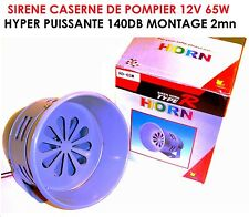 SPECIAL CAMPING CAR CARAVANE! RARE SIRENE 12V CASERNE DE POMPIER PUISSANCE 140DB