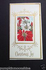 # I 500- Vintage Unused Pop Up Die Cut Xmas Greeting Card Holiday Poinsettia