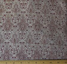 "Red/Gold Brocade Silk/Rayon/Metallic Fabric, 44"" Wide By The Yard (JD-4031B)"