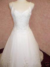 """Marie"" Beautiful Chiffon Beaded Bridal Wedding Gown"