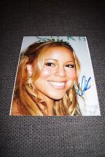 MARIAH CAREY signed Autogramm auf 20x25 cm Foto InPerson LOOK