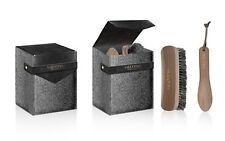 Valentino parfums grey black SHOE SHINE CARE KIT POLISHING SET brush new in box