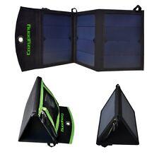 14W Folding Solar Panel Portable Camping Phone Charging Kit by PK Green