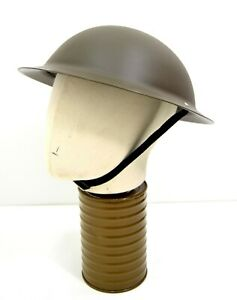 Repro British Army WW2 Plastic Helmet Tommy Doughboy Brodie Style WWII Soldier