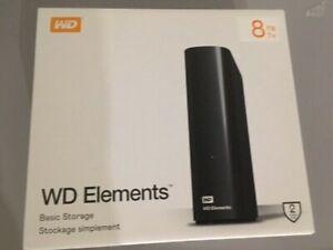 WD 8 TB Elements PC - Laptop - External Hard Drive - USB 3.0