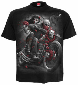 Spiral Direct DOTD BIKERS Mens Rock/Skulls/Goth/Day Of The Dead/T Shirt/Clothing