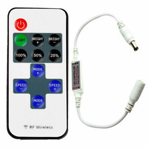 Wireless RF Remote Controller Dimmer For Single Color LED Strip Light 12V 6A