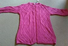 SEXY DARLING LONDON HOT PINK CABLE KNIT LOOSE OPEN CARDI CARDIGAN SIZE S 10 BNWT