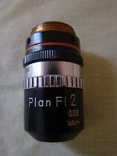Nikon Plan Fl  2x Objective With Working Iris Diaphragm