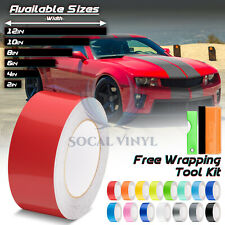 Gloss Color Racing Stripes Vinyl Wrap For Chevy Camaro Stripe Sticker 25FT /50FT
