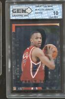 1996-97 Allen Iverson Fleer Metal Freshly Forged #8 Gem Mint 10 RC Rookie 76ers