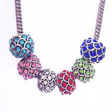 10PCS mixed European charm bead DIY fit 925 Silver Necklace Bracelet K260