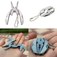 1 Pc Pop Pocket Screwdriver Pliers Knife Keychain Folding Multi Function Tool EO
