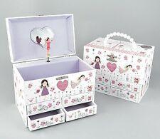 Floss & Rock Glittered Fairy Blossom Children Musical Jewellery Box Girl Gift