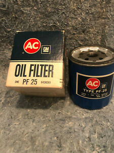 AC GM 2 (TWO) Oil Filters PF25 6438261 Chevrolet Buick Olds Pontiac Studebaker