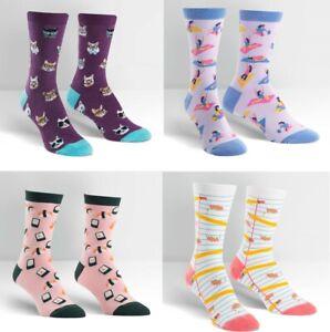 Sock It To Me E8 Women's Crew Socks Cat / Sushi / Yoga/ & more Choose Design W