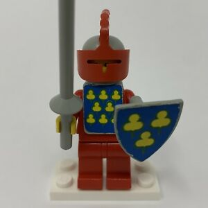 Lego Yellow Castle Knight Red Cavalry Complete Vest Shield cas087s 375 6075