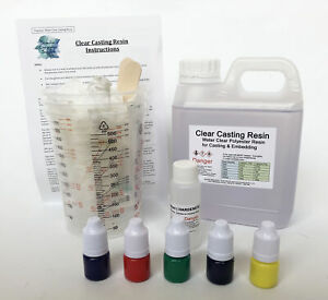 Water Clear Casting Resin Water Clear Kit  -500g , 1kg , 2kg & 5kg