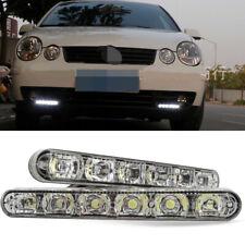 2X 6LED DRL Daytime Running Light Daylight Amber Turn Signal Lamp Universal Car