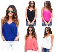 Women Summer Strap Vest Top Sleeveless Loose Blouse Casual Tank Tops T-Shirt