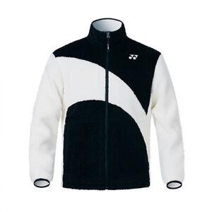 YONEX 21 F/W Unisex Fleece Jacket Black Over-Fit Badminton Clothing 213JJ006U