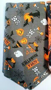 Halloween Dog Bandanas Halloween Cat Bandanas Tie To Fit Style Sewn Edges Cute H